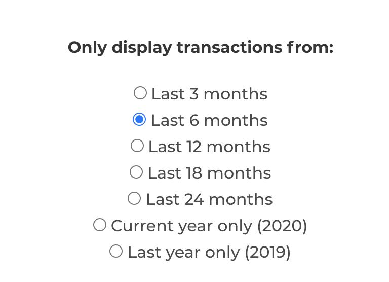 transaction length